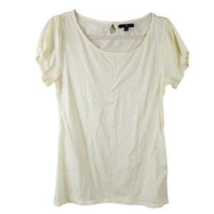 GAP Yellow Keyhole Back Tee Size Medium